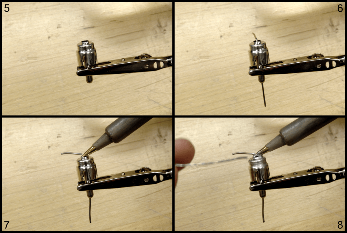 steps 5 through 8 of creating a shorting plug