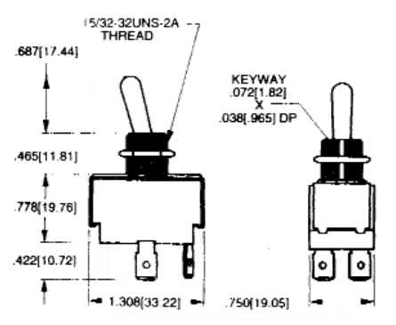 Switch - Toggle, DPDT, 3 Position, On-Off-On | CE Distribution on 3 way switch wiring diagram, spst switch on-off-on wiring, 3 position switch wiring diagram, light switch wiring diagram, carling dpdt switch wiring diagram, starter switch wiring diagram, lighted toggle switch diagram, linear actuator switch wiring diagram, spst toggle switch wiring, on off on switch wiring diagram, dpdt toggle switch diagram, 6 prong toggle switch diagram, three terminal rocker switch diagram, rotary switch wiring diagram, spdt switch wiring diagram, single pole double throw switch wiring diagram, spst illuminated rocker switch wiring, momentary switch wiring diagram, 700r4 vacuum switch installation diagram, carling lighted switch wiring diagram,