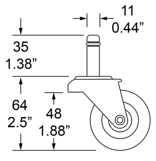 Dimensions for Wheel