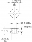 Dimensions for 1/8""