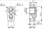 "Dimensions for .36"" top connection"