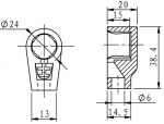 "Dimensions for .566"" top connection"