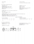 Specification Sheet for 100 µF