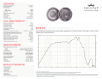 Specification Sheet for 16 Ω