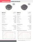 Specification Sheet for 8 Ω