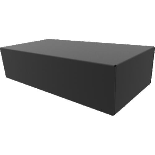 "Chassis Box - Hammond, Steel, 8"" x 4"" x 2"", Black image 1"