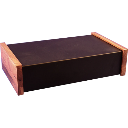 "Chassis Box - Hammond, Steel, 17"" x 10"" x 4"", Walnut Side Panels image 1"
