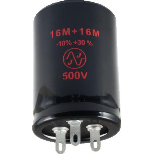 Capacitor - JJ Electronics, 500V, 16/16µF, Electrolytic image 1