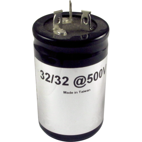 Capacitor - 500V, 32/32µF, Electrolytic image 1