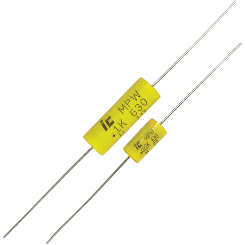 Capacitor - 630V, Polypropylene, axial leads image 1