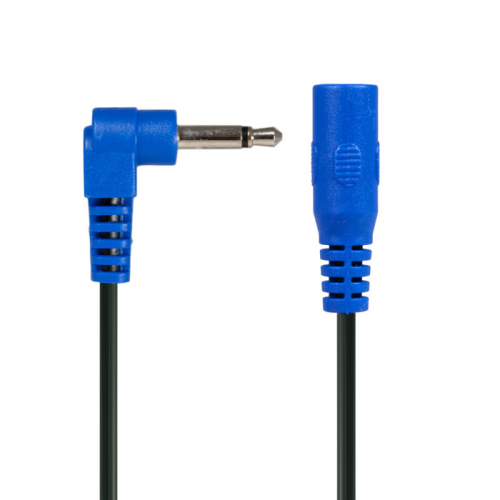 Cable - blue right-angle phone plug extension jumper image 4
