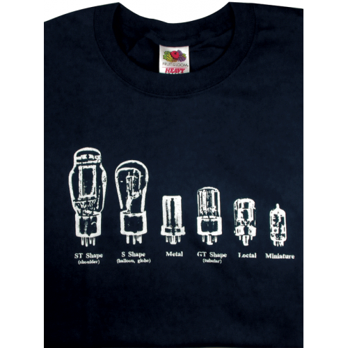 T-Shirt - Blue with Common Tube Shapes image 1