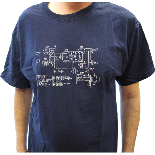 Shirt - Blue with Amplifier Schematic image 2