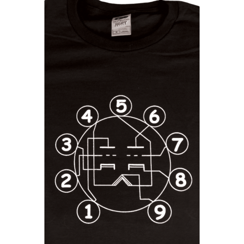 Shirt - Black with Dual Triode Tube Pin-out image 1