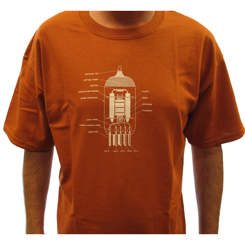T-Shirt - Rust with 12AX7 Tube Diagram image 2