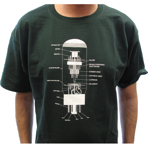 T-Shirt - Forest Green with 6L6 Diagram image 2