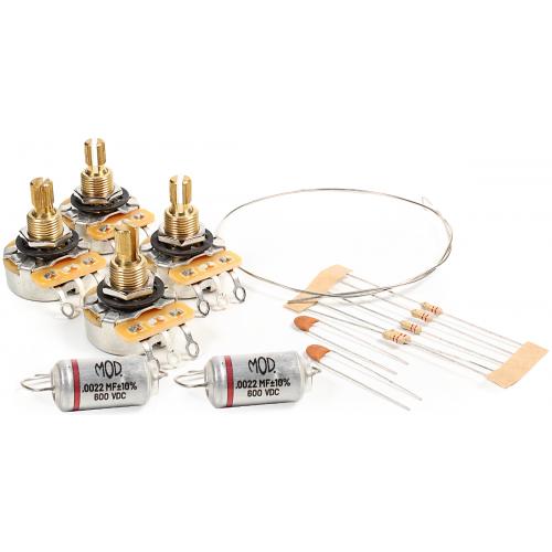 Guitar Wiring Upgrade Kit - Mod® Electronics, Short Bushing Potentiometer Les Paul image 1