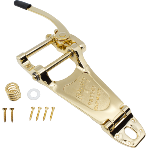 Vibrato - Bigsby, B7, for arch-top electrics, gold face image 1