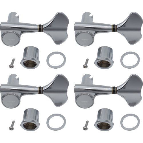 Tuners - Gotoh, Compact 707 for Bass, chrome, 4-In-Line image 1