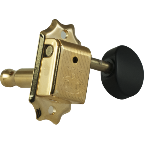 Tuner - Gotoh, SD510, gold, round knobs image 2