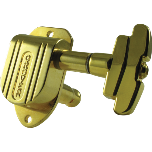Tuners - Grover, Imperial, 3 per side, gold image 2
