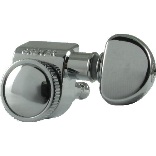 Tuners - Grover, Mini Rotomatic Roto-Grip locking, 3 per side, Chrome image 2
