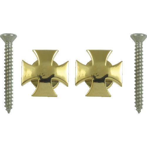Strap locks - Grover, Iron Cross style, gold image 1
