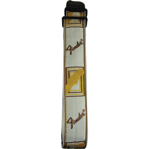 "Guitar Strap - Fender, 2"", White / Brown / Yellow image 2"