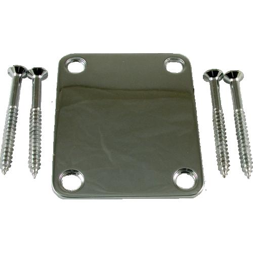 Neck Plate - 4-Hole, Chrome image 1