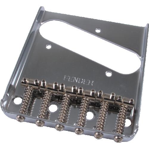 Bridge - Fender®, for Tele, 6 Barrel Saddles, Chrome image 2