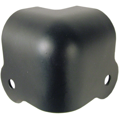 Corner - Black Steel, 2-Hole, 18 Gauge, Wraparound, Lip image 1