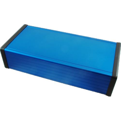 """Enclosure - Hammond, Extruded Aluminum, 8.66"""" x 4.06"""" x 2.09"""", Blue image 1"""