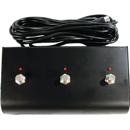 Footswitch - for Marshall, Three Button, LED, DIN Plug image 1
