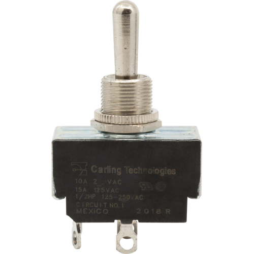 Switch - Carling, Toggle, DPST, 3 Position, Play-Stdby-Off image 1