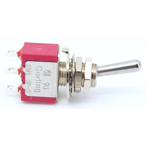 Switch - Carling, Mini Toggle, SPDT, 3 Position, Solder Lug image 3