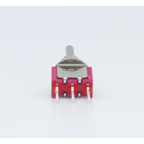Switch - Carling, Mini Toggle, SPDT, 3-Position, PC Pins image 4