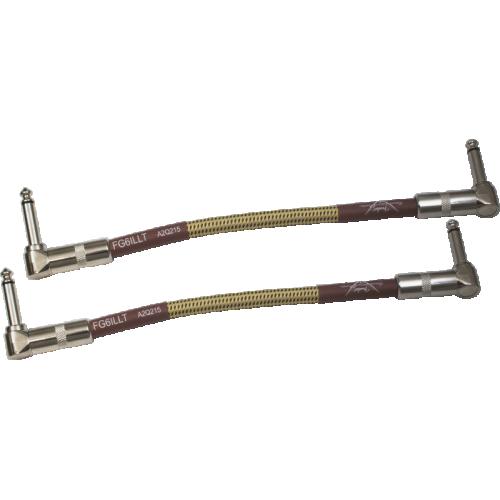 """Cable - Fender, Custom Shop, 6"""", Instrument, Tweed, Pkg/2 image 1"""