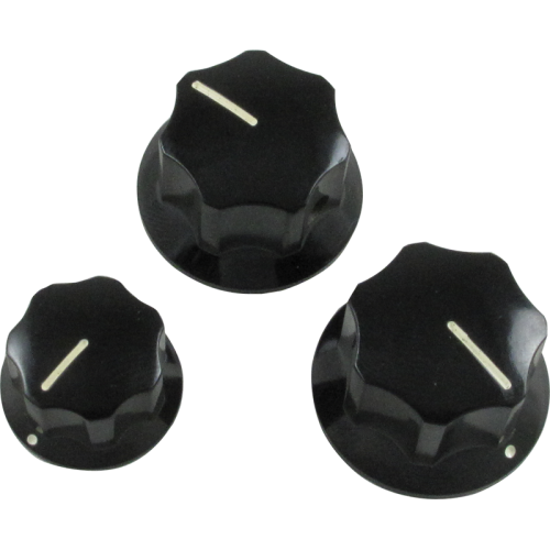 Knob - Fender®, Black J-Bass, Set Screw image 1