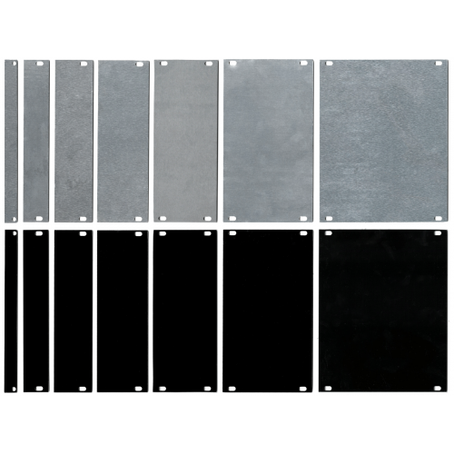 Panel - Eurorack Blanks, Reversible Black / Aluminum, 1.6mm image 1
