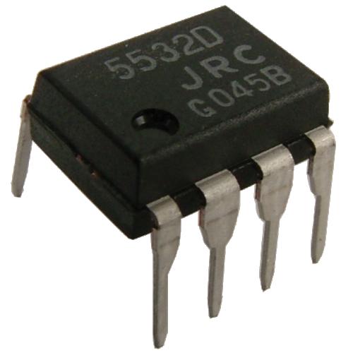 Op-Amp - NE5532, Dual, Low-Noise, 8-Pin DIP image 1
