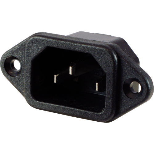 Receptacle - IEC C14, for power cord, 3 prong image 1