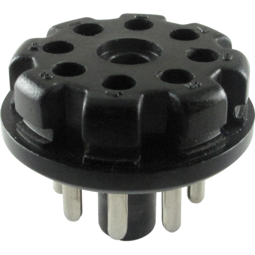 Plug - 8-Pin octal tube base, Black Plastic image 1