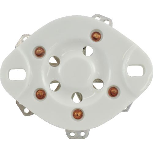Socket - 5 Pin, Ceramic Plate, bottom mount image 2