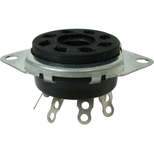 Socket - 8 Pin, Phenolic, top mount image 1