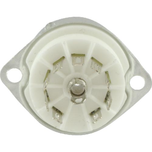 Socket - 9 Pin Miniature, Ceramic Base, Aluminum Shield image 3