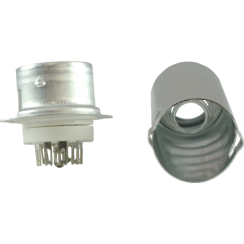 Socket - 9 Pin Miniature, Ceramic Base, Aluminum Shield image 2