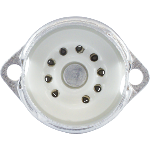 Socket - 9 Pin, Ceramic, PC Mount with Aluminum Shield image 2