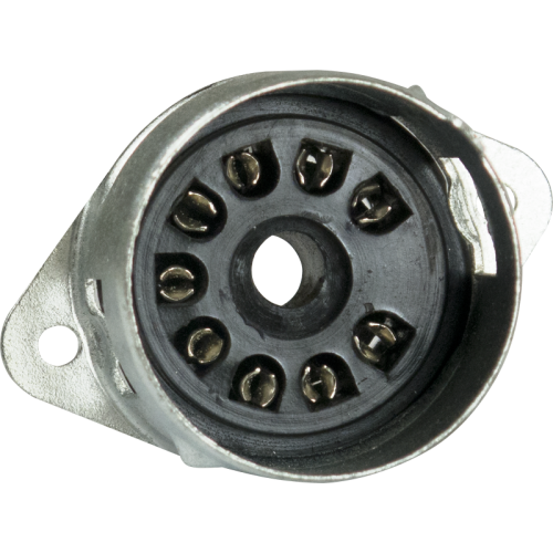 Socket - 9 Pin, Miniature, PC mount, with Shielded Base image 2