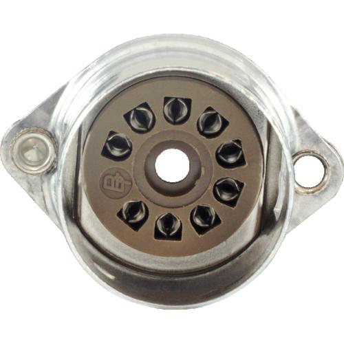 Socket - Belton, 9 Pin, Crimped with Shield Base, PC mount image 2