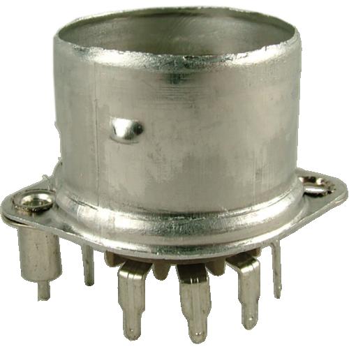 Socket - Belton, 9 Pin, Crimped with Shield Base, PC mount image 1